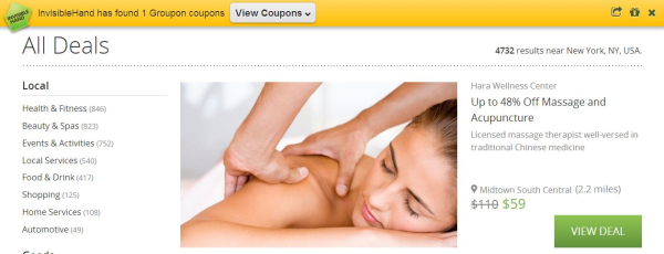 Invisible Hand Groupon