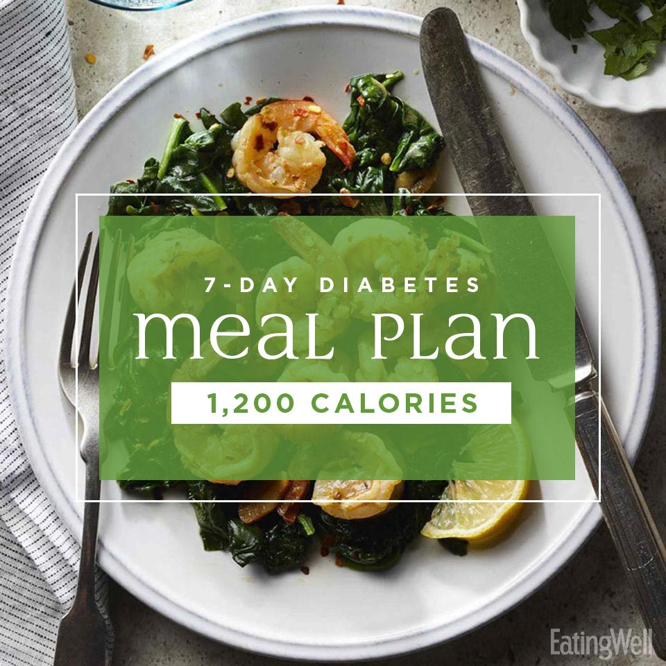 7-Day Diabetes Meal Plan: 1,200 Calories   EatingWell