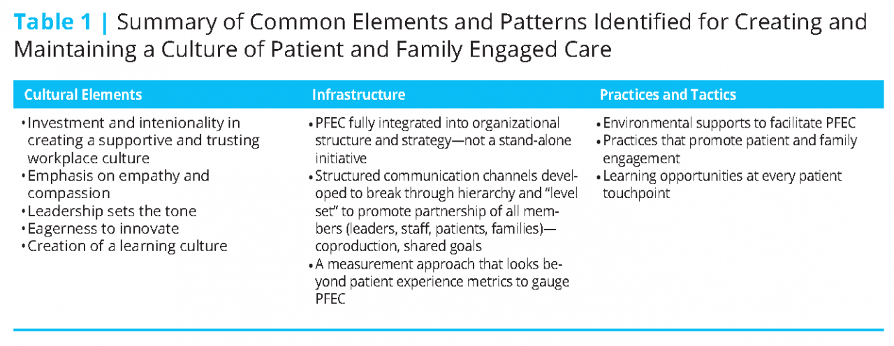 Harnessing Evidence and Experience to Change Culture: A Guiding Framework  for Patient and Family Engaged Care - National Academy of Medicine