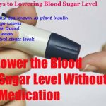 How To Lower the Blood Sugar Level