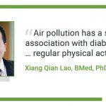 Regular physical activity reduces risk for type 2 diabetes, independent of  pollution