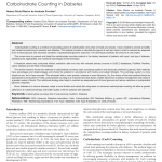 PDF) Carbohydrate Counting in Diabetes