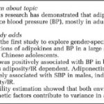 Association of adipokines with blood pressure in rural Chinese adolescents    Journal of Human Hypertension