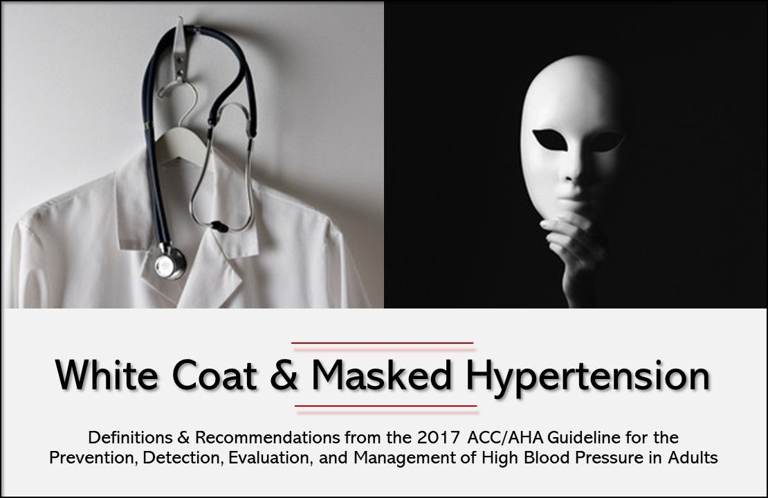 White Coat & Masked Hypertension: How to Detect & Treat