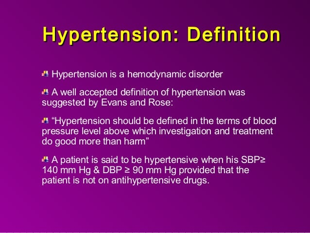 Epidemiology , diagnosis and treatment of Hypertension