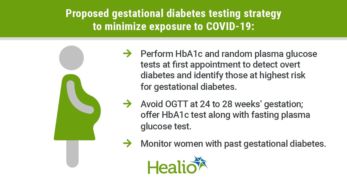 Be pragmatic about testing, management of gestational diabetes during  COVID-19