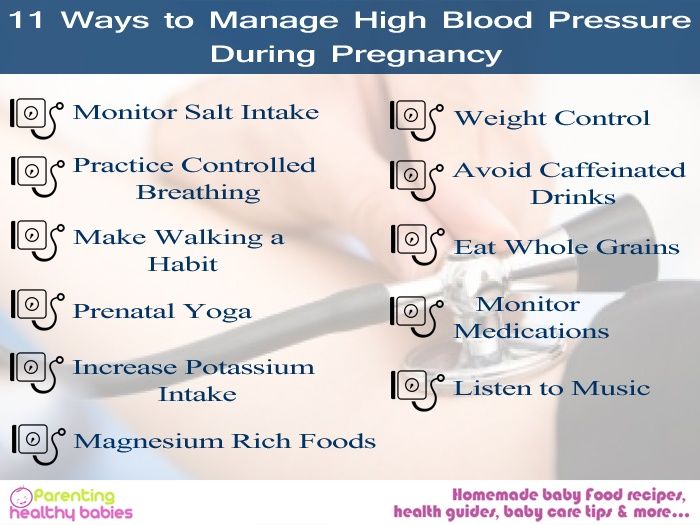 11 Ways to Manage High Blood Pressure During Pregnancy