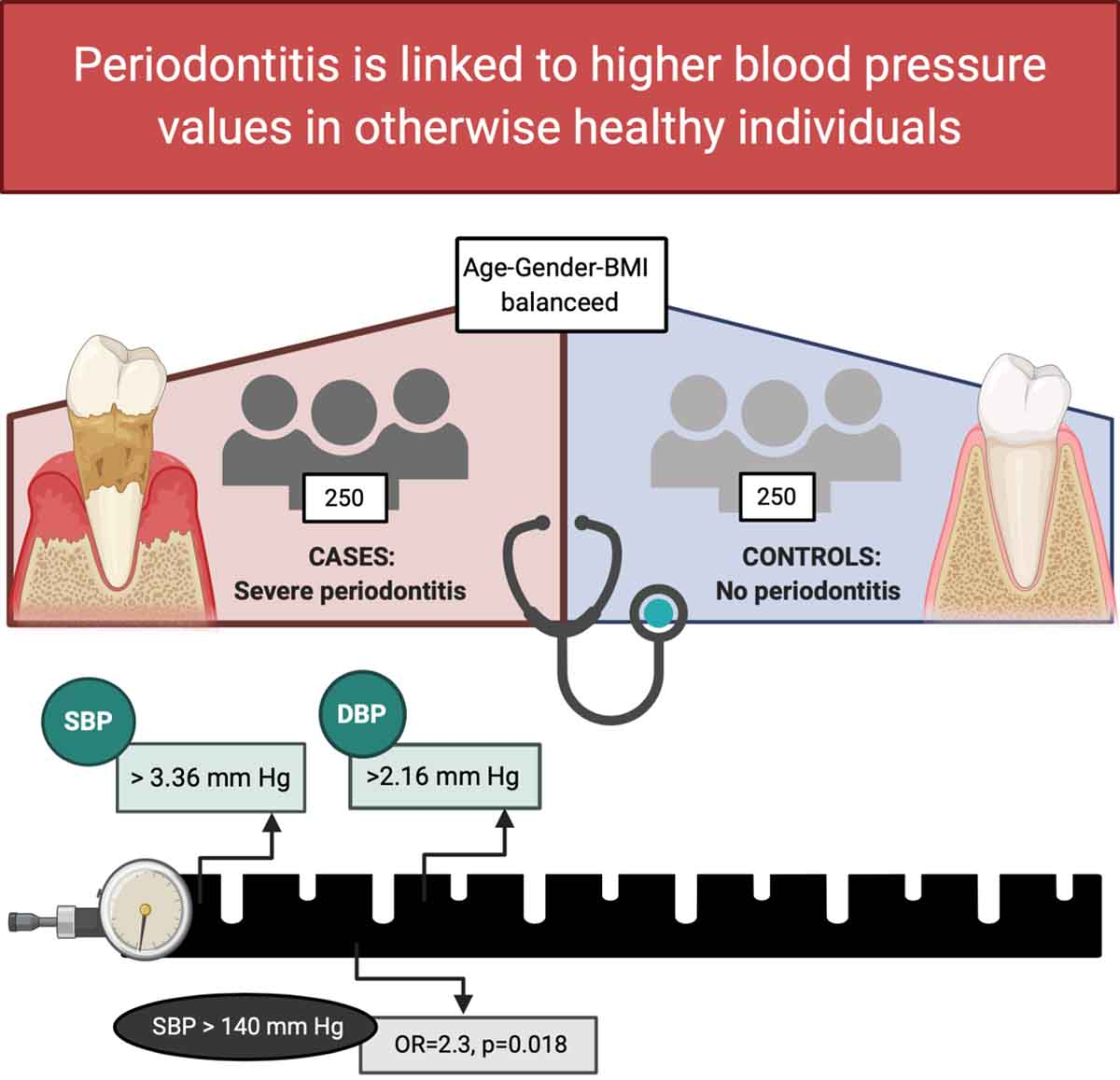 Association Between Periodontitis and Blood Pressure Highlighted in  Systemically Healthy Individuals   Hypertension