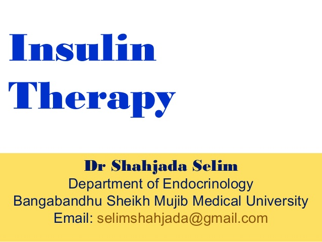 Insulin therapy for type 2 diabetes patients dr shahjadaselim1