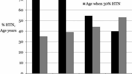 Defining Hypertension by Blood Pressure 130/80 mm Hg Leads to an Impressive  Burden of Hypertension in Young and Middle‐Aged Black Adults: Follow‐Up in  the CARDIA Study | Journal of the American Heart