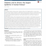 PDF) Diabetes and its drivers: The largest epidemic in human history?
