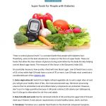 Super foods for people with diabetes