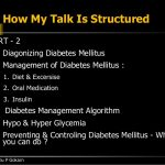 Talk on Diabetes and its Management