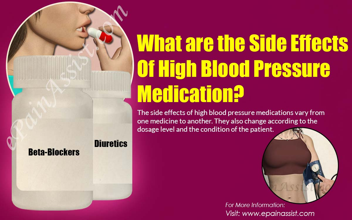 What are the Side Effects of not Taking High Blood Pressure Medication?