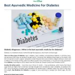What is The Best Medicine For Diabetes?
