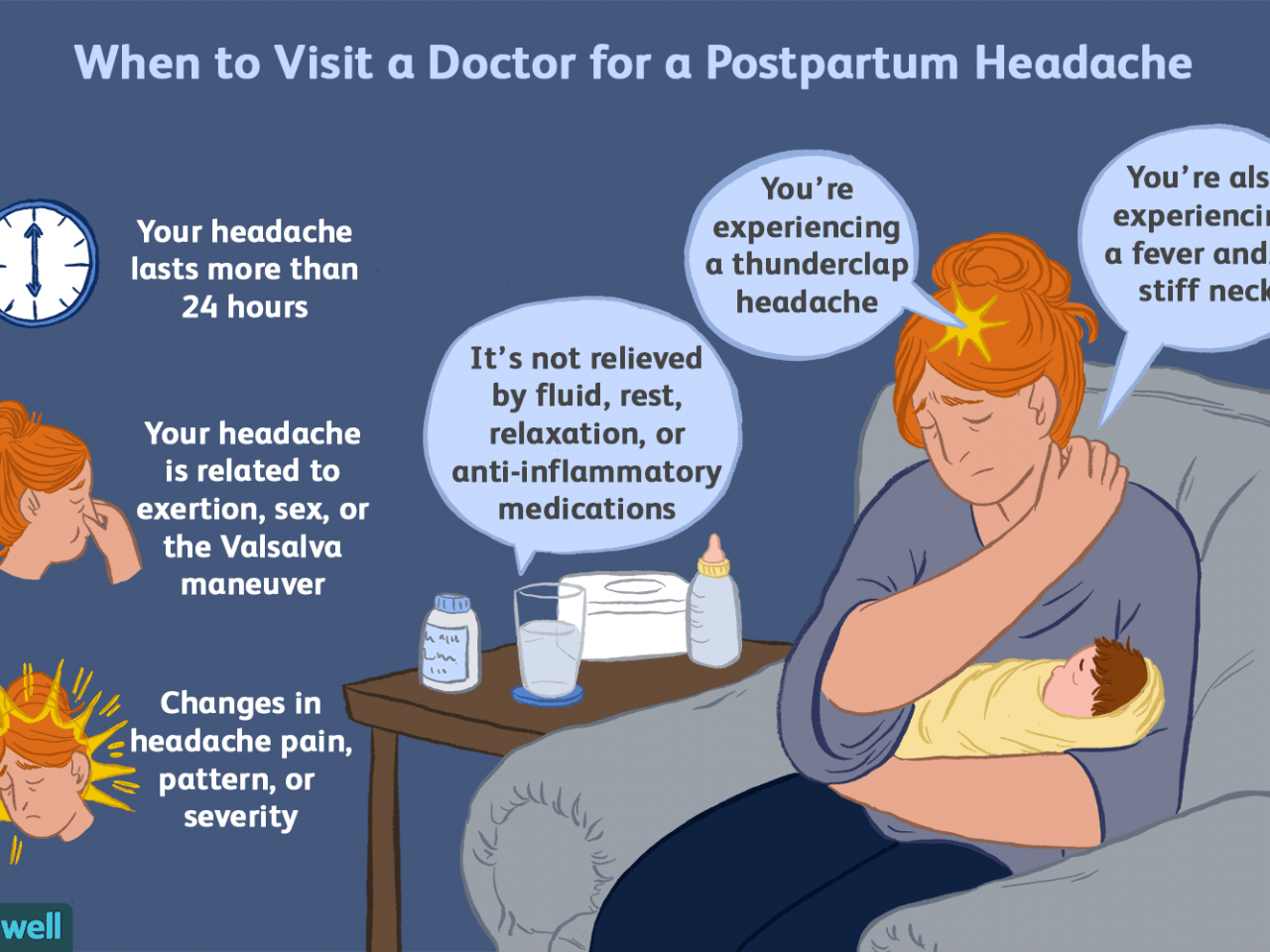 Benign and Serious Causes of Headaches After Pregnancy