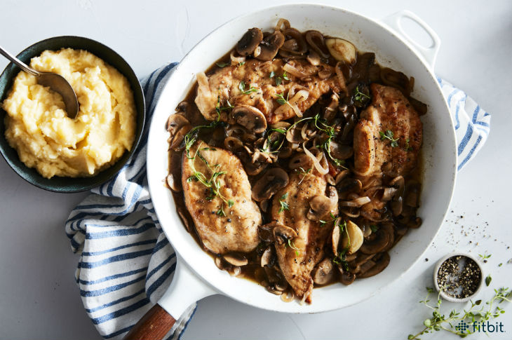 Healthy Recipe: Chicken Marsala with Mashed Parsnips - Fitbit Blog
