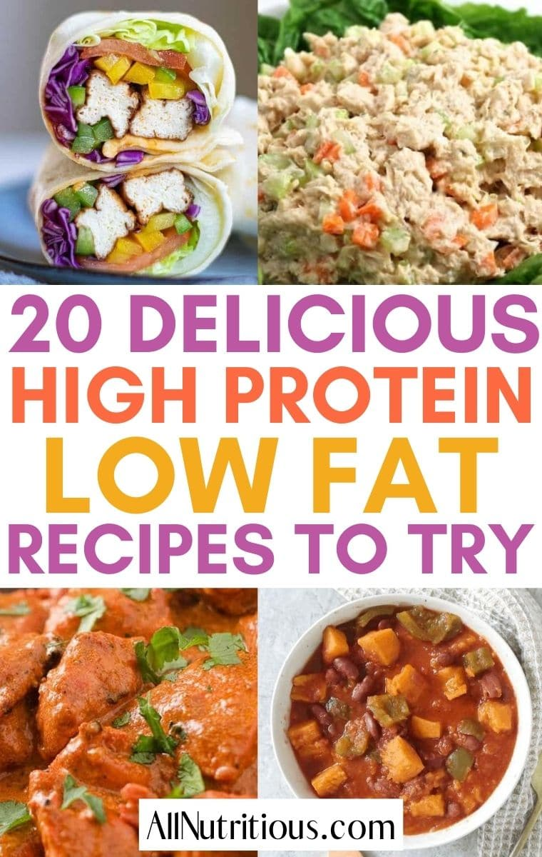 20 Great High Protein Low Fat Recipes - All Nutritious