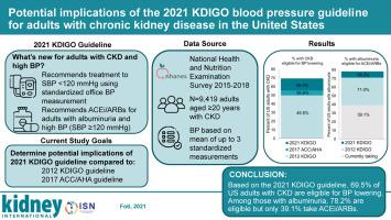 Potential implications of the 2021 KDIGO blood pressure guideline for  adults with chronic kidney disease in the United States,Kidney International  - X-MOL