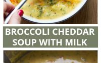 Healthy Broccoli Cheddar Soup - All the Healthy Things