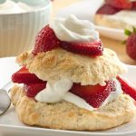 Healthy Strawberry Shortcake with High Protein Whipped Cream