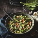 Braised Collard Greens with Bacon: Low FODMAP, Onion-Free and Garlic-Free