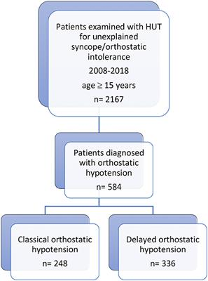 Frontiers   Classical and Delayed Orthostatic Hypotension in Patients With  Unexplained Syncope and Severe Orthostatic Intolerance   Cardiovascular  Medicine