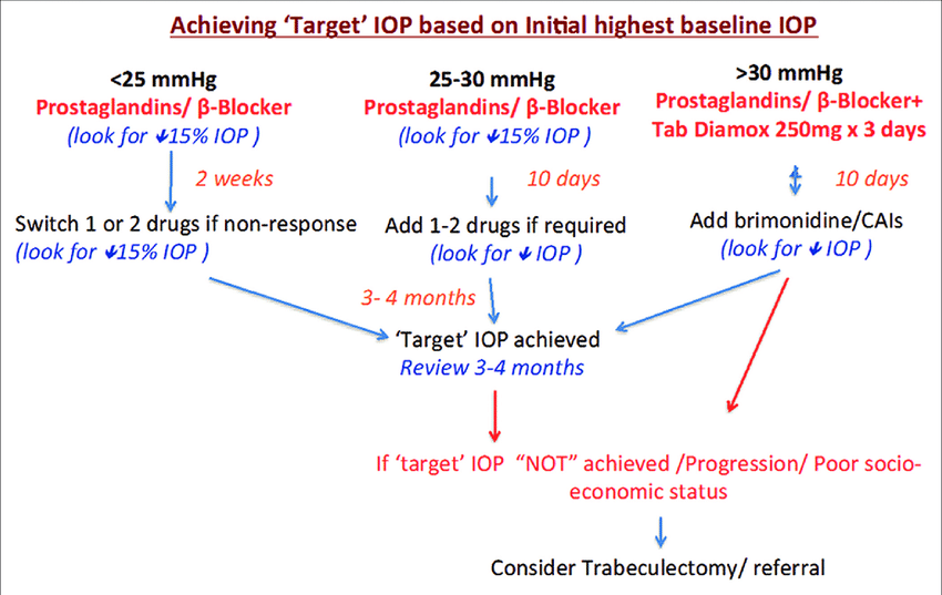 Achieving target intraocular pressure based on initial baseline...    Download Scientific Diagram