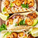 Spicy Shrimp Tacos with Cilantro Lime Sauce - Evolving Table