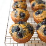 Banana Blueberry Muffins with Oats and Brown Sugar