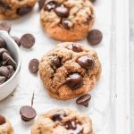 APPLESAUCE CHOCOLATE CHIP COOKIES are the perfect skinny(er) way to enjoy  holiday bak…   Chocolate chip cookies, Low calorie cookies, Healthy chocolate  chip cookies