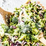 Super Low Calorie Honey Mustard Broccoli Slaw with Weight Watchers Points    Skinny Kitchen