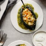 Baked Poblano Chiles Rellenos with Roasted Salsa Verde — Zestful Kitchen