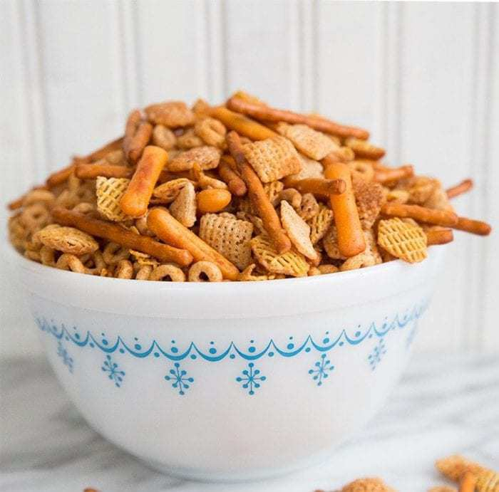 Classic Homemade Nuts and Bolts Recipe | The Kitchen Magpie