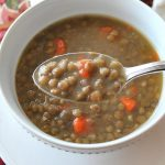 Low-Fat Lentil Soup with Veggies - 2 Sisters Recipes by Anna and Liz