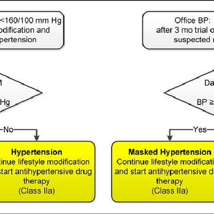 Detection of white coat hypertension or masked hypertension in patients...  | Download Scientific Diagram