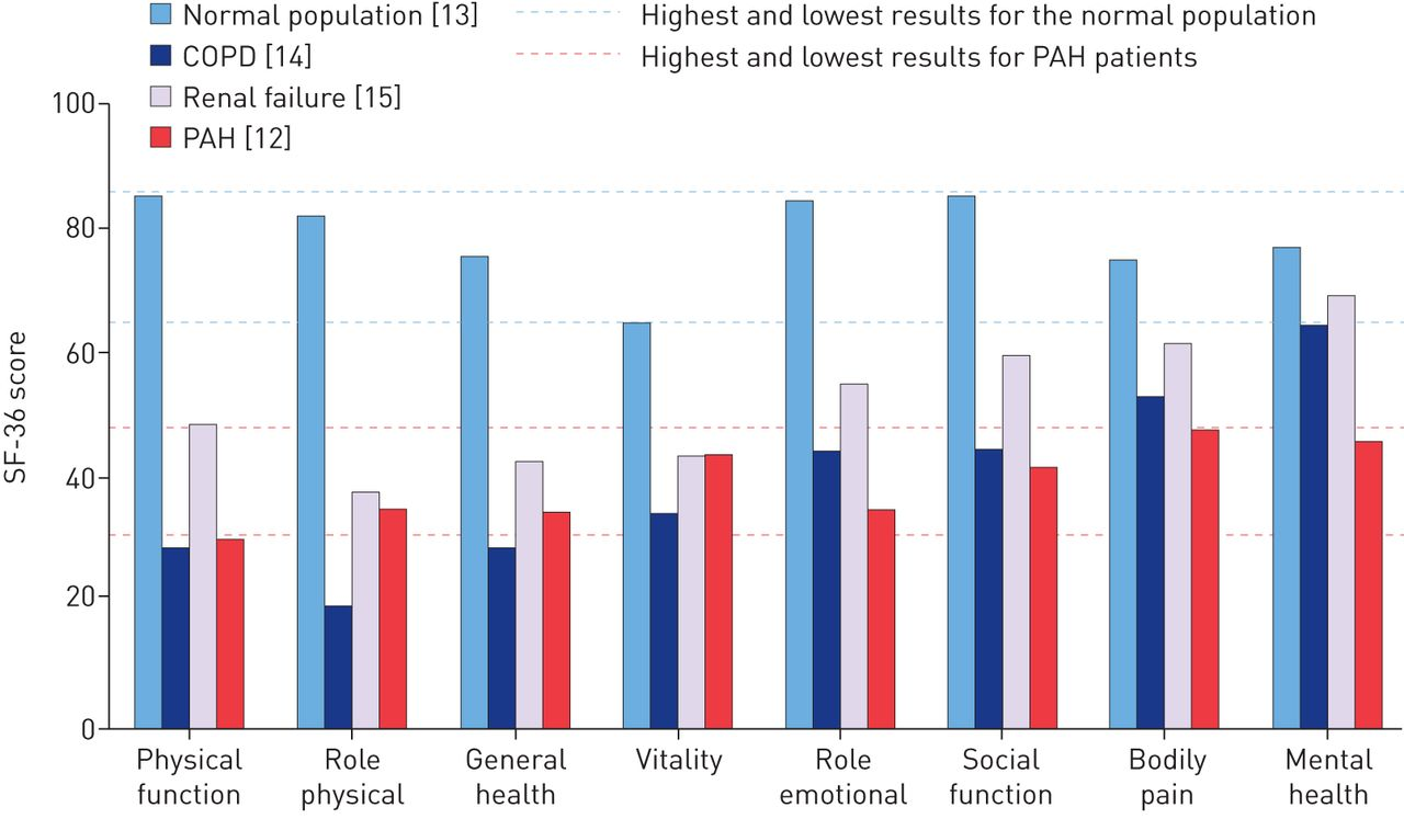 Pulmonary arterial hypertension: the burden of disease and impact on  quality of life   European Respiratory Society
