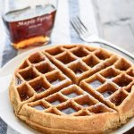 Whole Wheat Waffles | Easy Blender Recipe with Applesauce