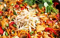 Healthy Chicken Pad Thai (Paleo/Whole30) - Eat the Gains