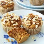 Healthy Pumpkin Muffins with Crumb Topping - 40 Aprons