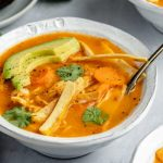 Slow Cooker Chicken Tortilla Soup with Kale - Fit Foodie Finds