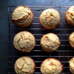 Oatmeal Apple Banana Low Fat Muffins. Easy, delicious & high in fiber too!