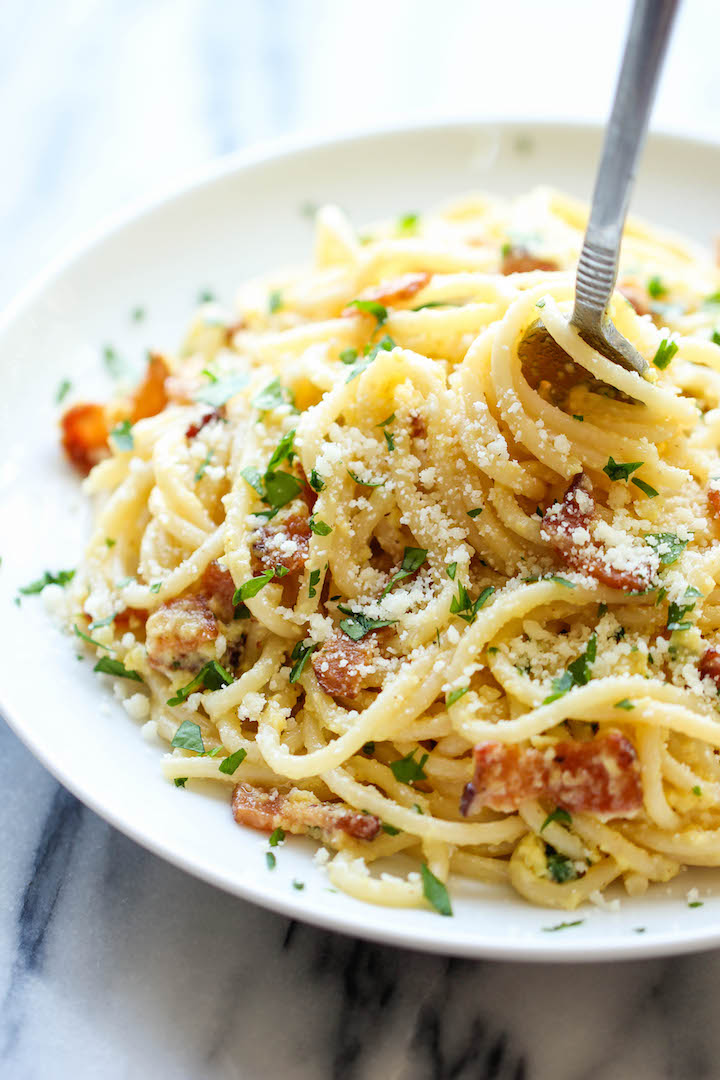 Our Whole-Wheat Pasta Carbonara Has Less Than 350 Calories Per Serving  Recipe | Cooking Light