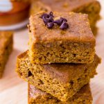Healthy Pumpkin Bars with Cream Cheese Frosting - One Wholesome Life
