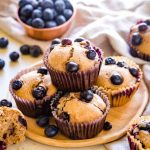 Healthy Blueberry Muffins {So Fluffy and Easy!} - iFOODreal.com