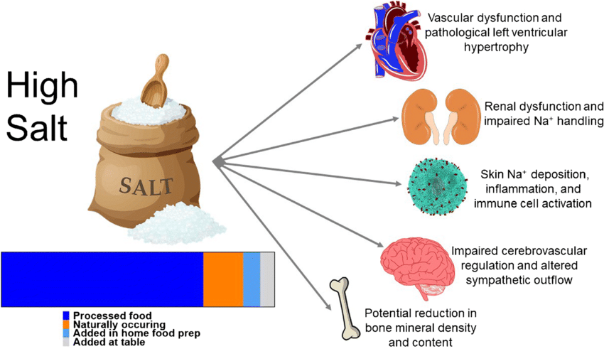 There is agreement high salt diets contribute to high blood pressure... |  Download Scientific Diagram