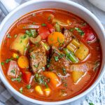 Homemade Vegetable Beef Soup Recipe | Healthy Fitness Meals