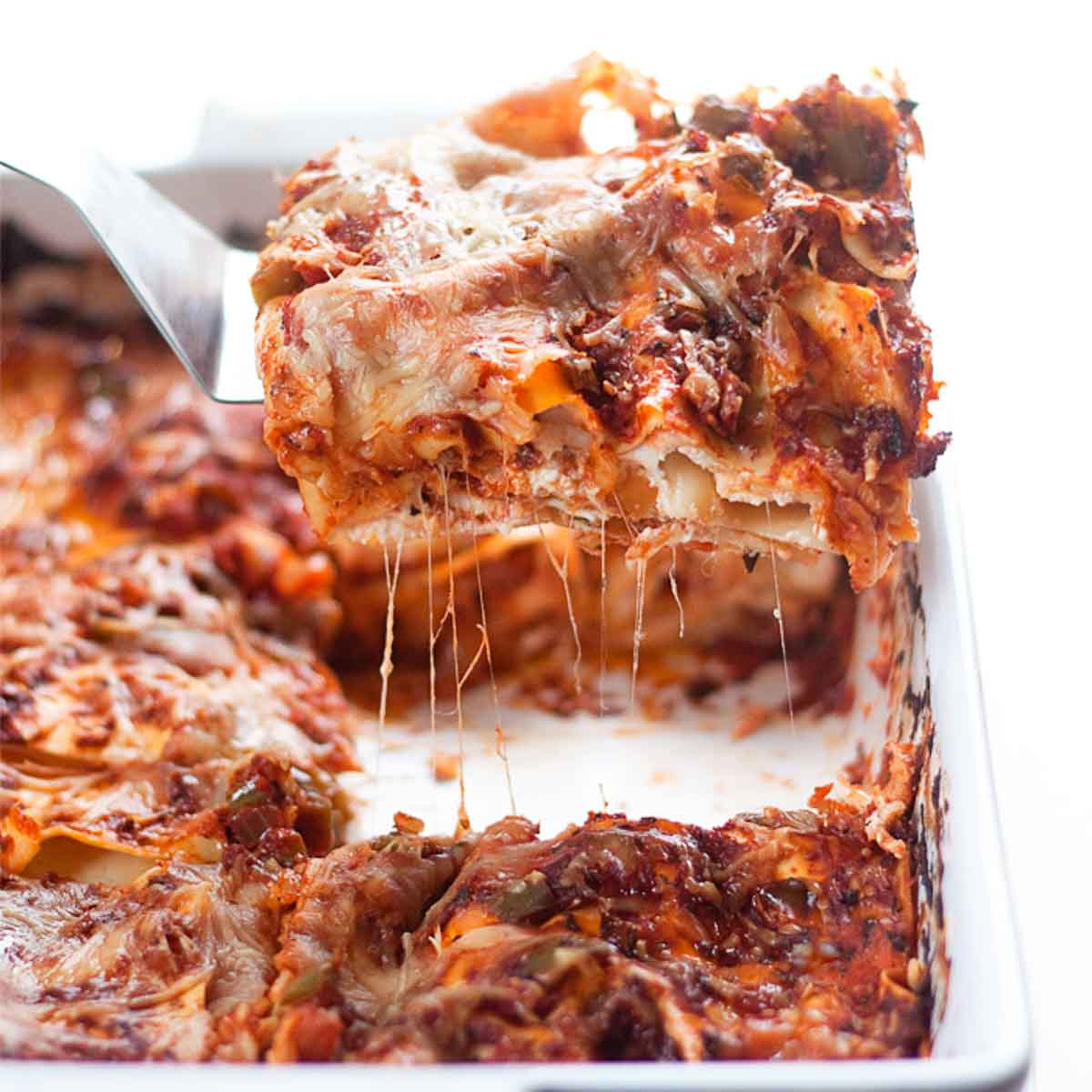 Very Low Calorie Lasagna Recipe {with Zucchini!} - Health Beet