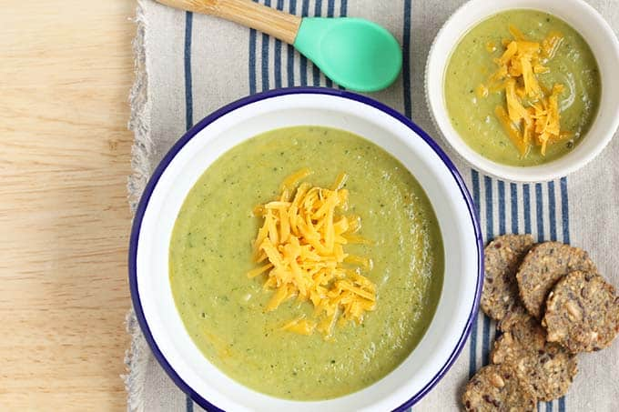 Lightened Up Broccoli Cheese Soup - Pound Dropper