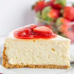 Easy No Bake Strawberry Cheesecake - The Busy Baker
